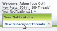 PentaxForums.com Subscribed Threads Improvement