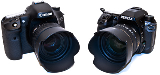 Canon 7D vs Pentax K-5 Comparison
