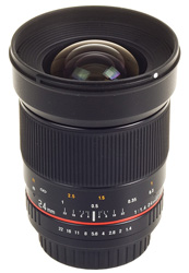 New 24mm F1.4 Samyang lens for Pentax