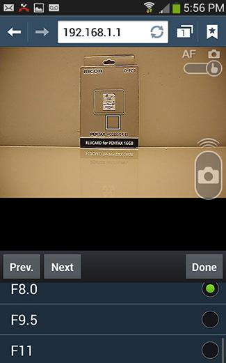 Remote Capture on a Samsung Galaxy