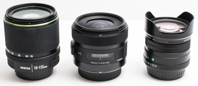 Pentax 18-135mm vs Sigma 30mm vs Pentax 31mm