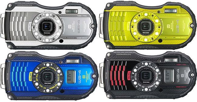 Ricoh WG-4 Colors