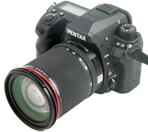 Pentax K-3 with 16-85mm Lens