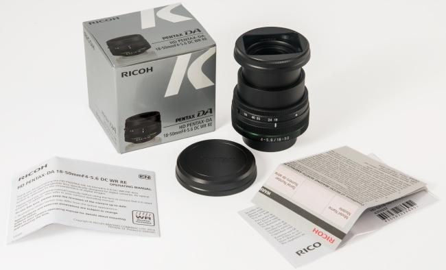 HD Pentax 18-50mm Box Contents