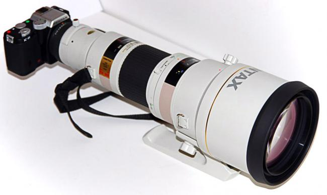 Pentax K-01 with 250-600mm telephoto lens
