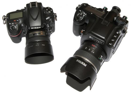 Nikon D800E w/50mm and Pentax 645D w/55mm
