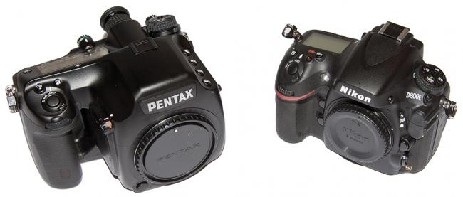 Pentax 645D and Nikon D800e