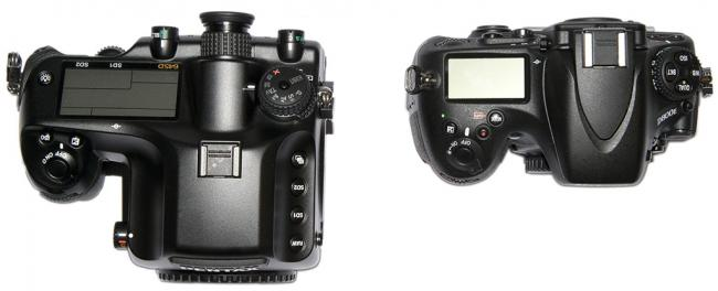 Nikon D800E vs Pentax 645D top