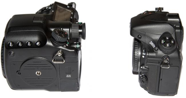 Nikon D800E vs Pentax 645D left side