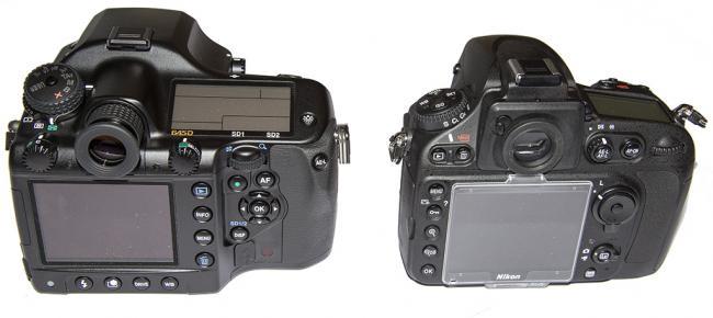 Nikon D800E vs Pentax 645D rear LCDs