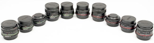 SMC Pentax & HD Pentax Limited Primes: Full Lineup