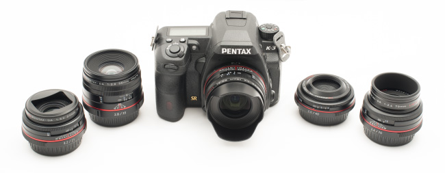 Pentax HD Limiteds mounted on the K-3