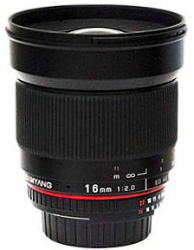 New Samyang 16mm F2 Lens for Pentax