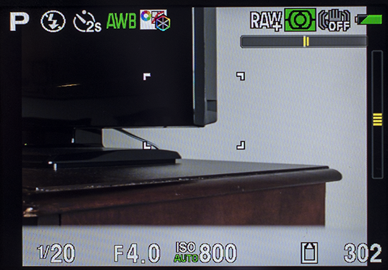 Pentax Q7 - Live view