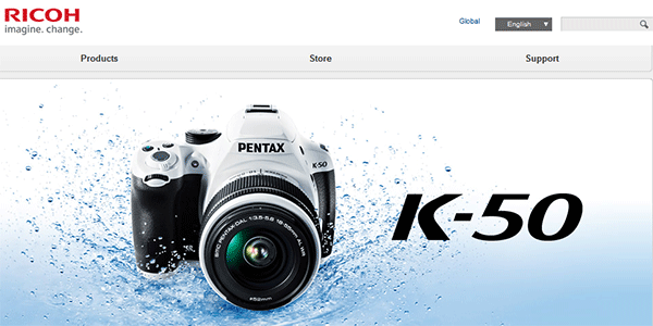 Official Pentax Web Sites Renamed