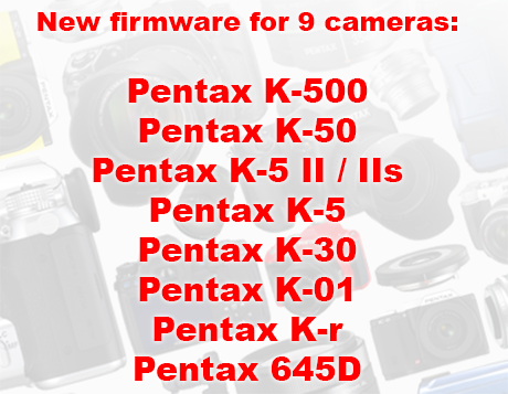 New Firmware for All Current Pentax DSLR Models