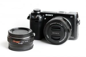 Sony NEX-6 with Lens Turbo