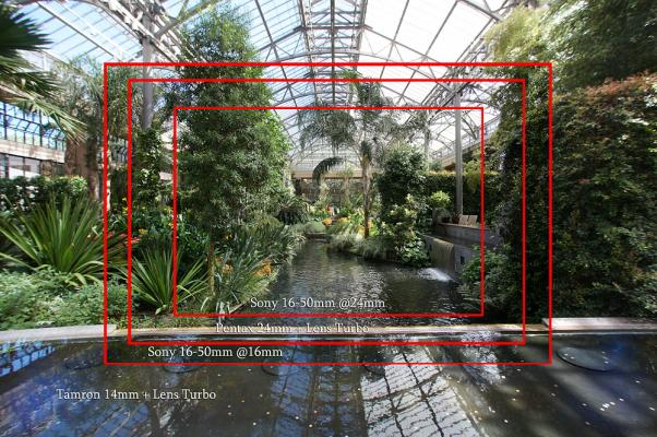 Lens Turbo Focal Length Comparison: 14mm, 16mm, 24mm