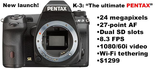 Pentax K-3 Announced