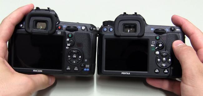 Pentax K-3 vs K-5 II Back View