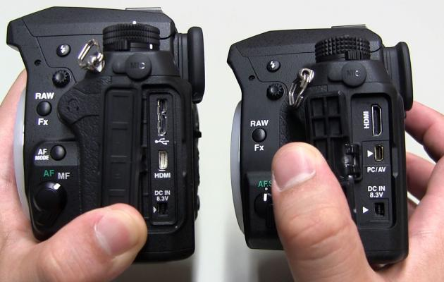 K-3 (left) vs K-5 II (right)