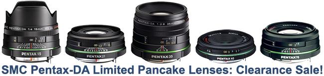 Save Big on Pentax DA Limited Lenses