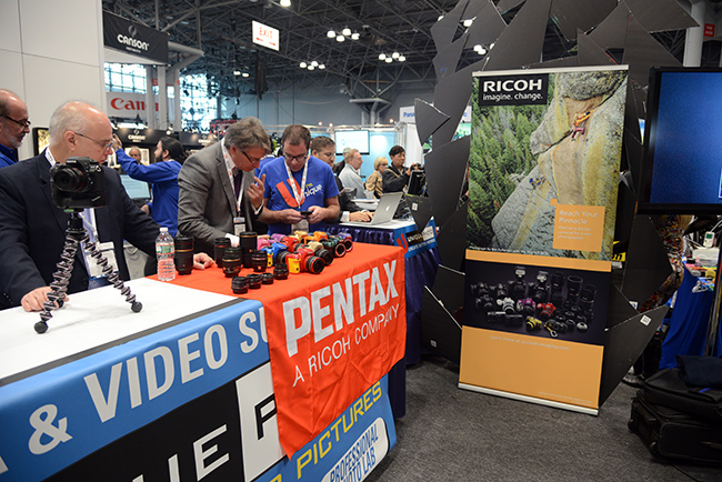 Pentax Booth at PhotoPlus 2013