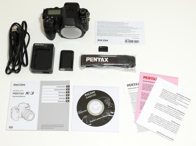 Pentax K-3 Box Contents