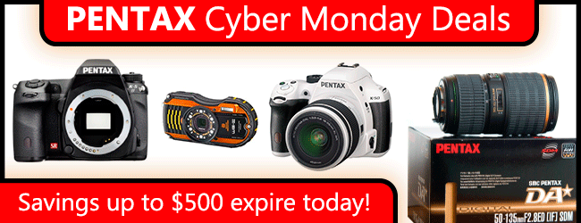 Cyber Monday 2013 Pentax Deals