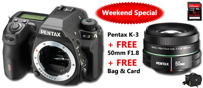 Pentax K-3 + Free 50mm Lens