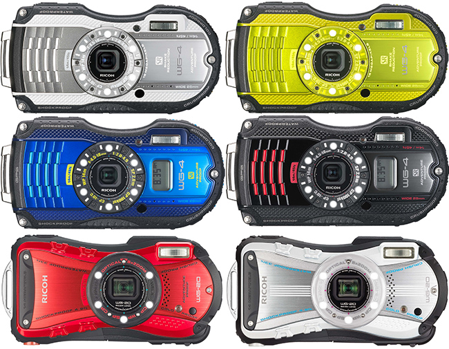 Ricoh WG-4 and WG-20 Waterproof Compacts Announced