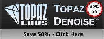 Topaz DeNoise: 50% Off Sale