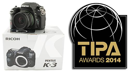 Pentax K-3: Best Expert DSLR (TIPA 2014)