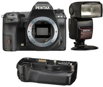 Pentax K-3 with $100 AF 540 Flash