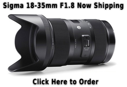 Sigma 18-35mm F1.8 for Pentax Now Shipping
