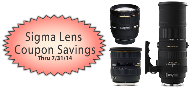 Sigma Lens Coupon Savings