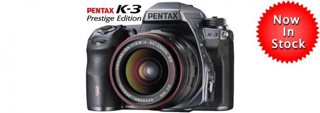 Pentax K-3 Prestige Now Shipping