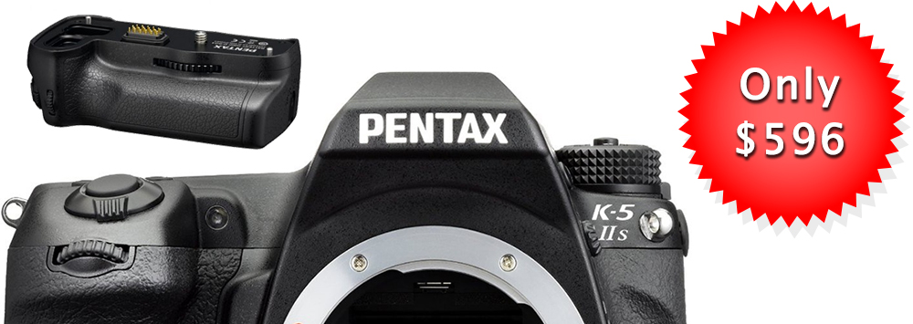 Pentax K-5 IIs Drops to $596