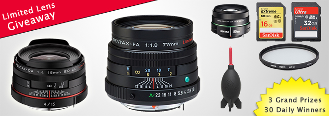 Win a Limited Lens: November Daily Prize Giveaway