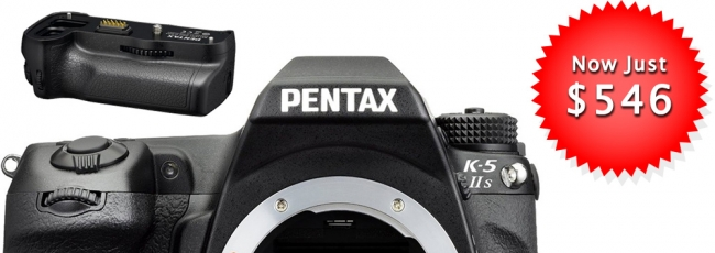 Pentax K-5 IIs for $546 + Free Grip & Card