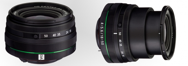 HD Pentax-DA 18-50mm DC WR RE Lens Announced