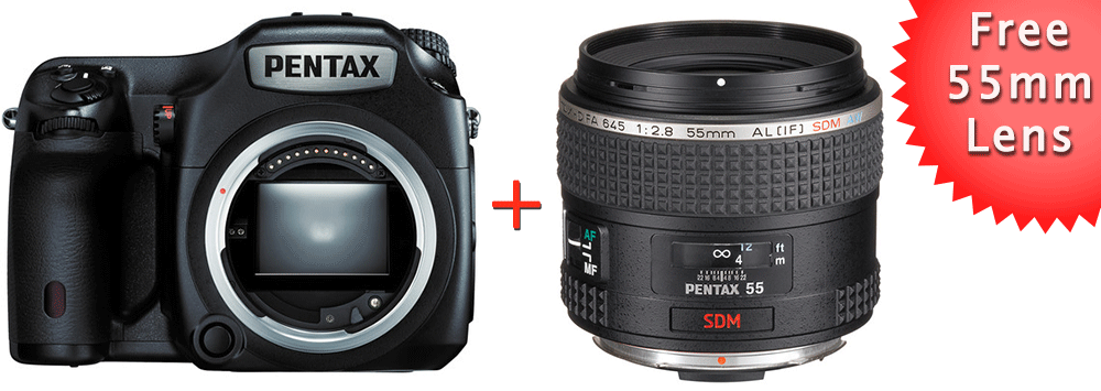 Pentax 645Z Deal: Free 55mm lens and 3-year warranty