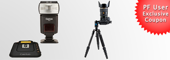 Exclusive Cactus Flash and Sirui Tripod Coupon
