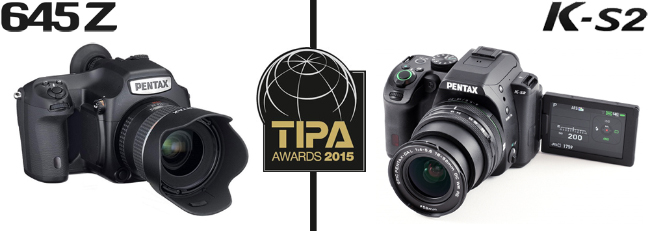 Pentax 645Z and K-S2 Win TIPA 2015 Awards