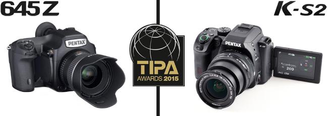 Pentax 645Z and K-S2 Win TIPA 2015 Awards