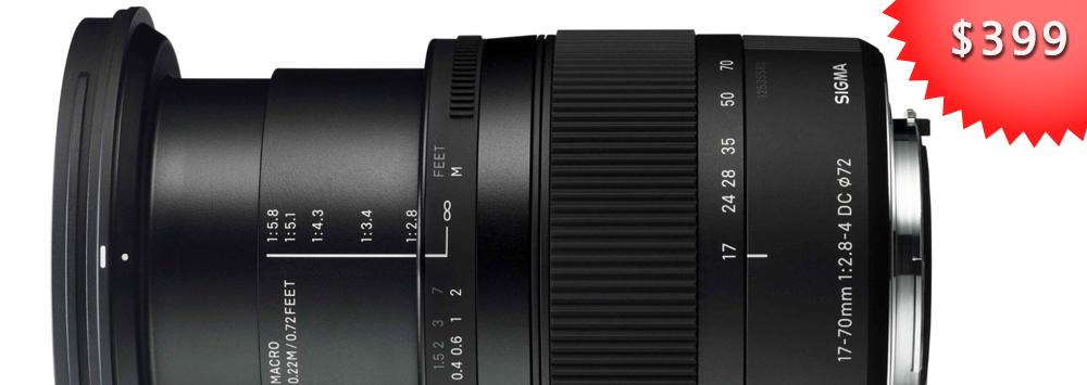 """Sigma 17-70mm F2.8-4 """"C"""" - $399"""