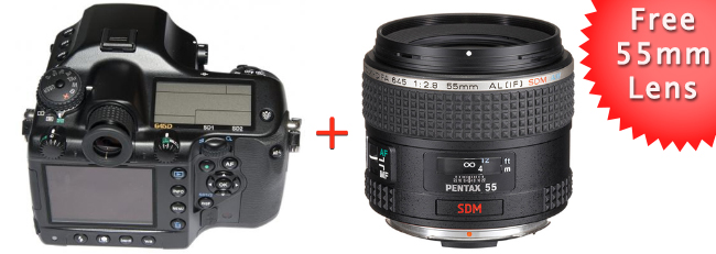 Pentax 645D with Free D FA 55mm Lens