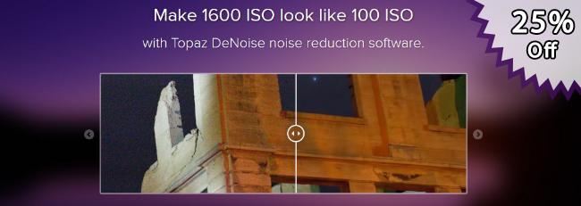 Topaz DeNoise Rebate - Take 25% Off