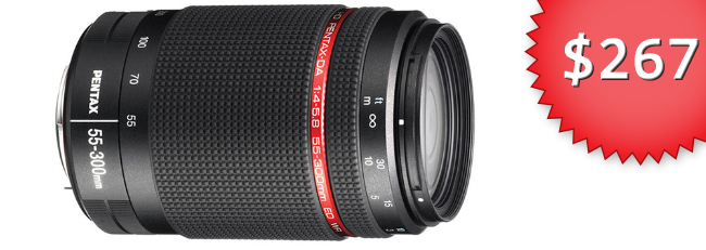 HD Pentax 55-300mm for $267.11