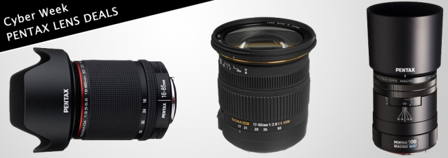 Cyber Week Pentax Lens Discounts